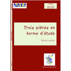 3 pieces en forme d etude