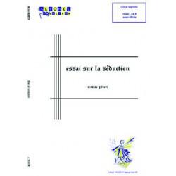 Essai sur la seduction (marimba and cor / horn)