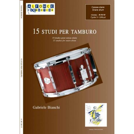 15 studi per tamburo