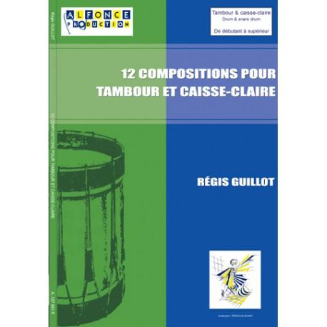 12 compositions pour tambour et caisse-claire