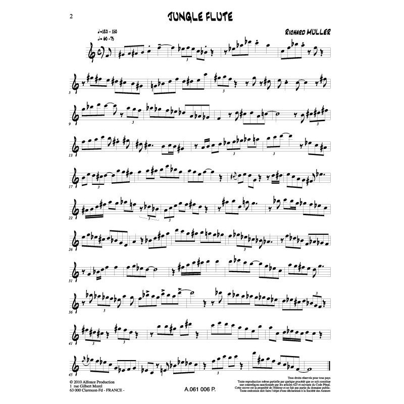 5 solos for jazz flute - Alfonce Production