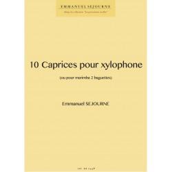 10 caprices pour xylophone (ou marimba 2 baguettes)
